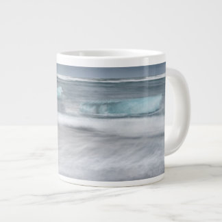Rough Seascape with ice, iceland Large Coffee Mug