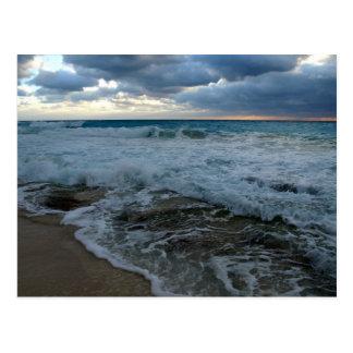 rough waters postcard