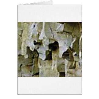 rough white rock ceiling card