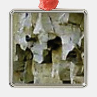 rough white rock ceiling metal ornament