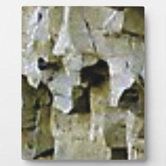 rough white rock ceiling plaque