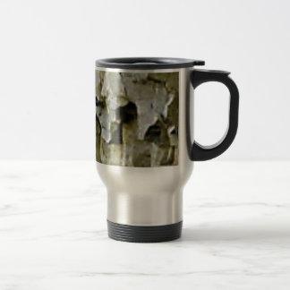 rough white rock ceiling travel mug