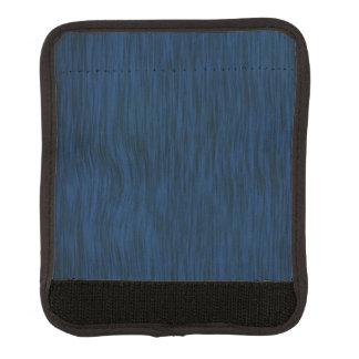 Rough Wood Grain Look Background Deep Blue Luggage Handle Wrap