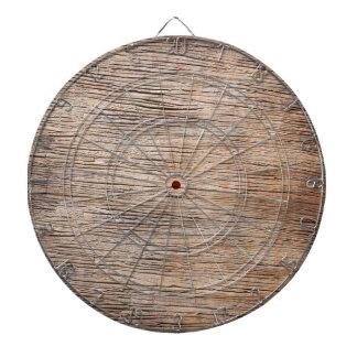 Rough Wooden Plank Dartboard