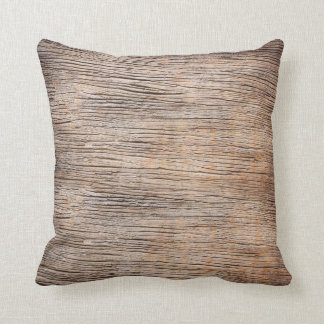 Rough Wooden Plank Texture Throw Pillow