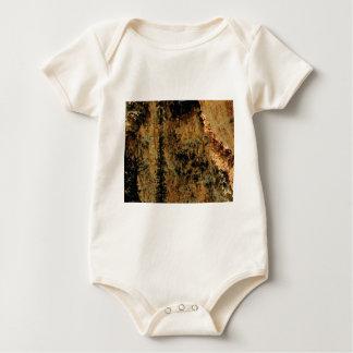 rough yellow surface baby bodysuit