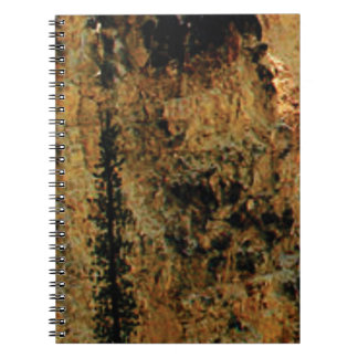 rough yellow surface spiral notebook
