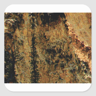 rough yellow surface square sticker