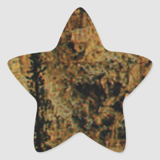 rough yellow surface star sticker