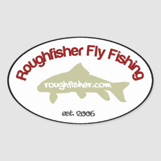 roughfisher.com Oval sticker