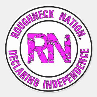ROUGHNECK NATION LOGO CLASSIC ROUND STICKER