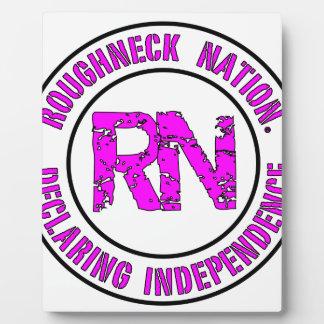 ROUGHNECK NATION LOGO PLAQUE