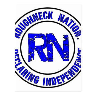 ROUGHNECK NATION LOGO POSTCARD