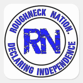 ROUGHNECK NATION LOGO SQUARE STICKER