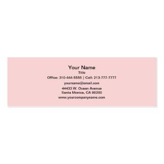 Rougissent la couleur solide rose carte de visite petit format