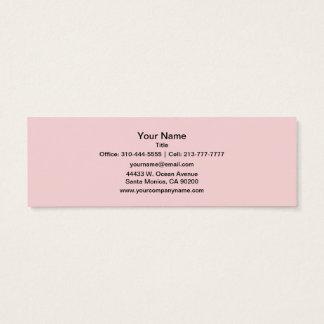 Rougissent la couleur solide rose mini carte de visite