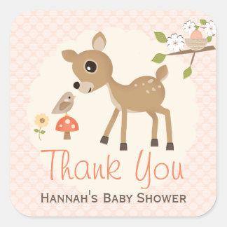 Rougissent les autocollants de Merci de baby
