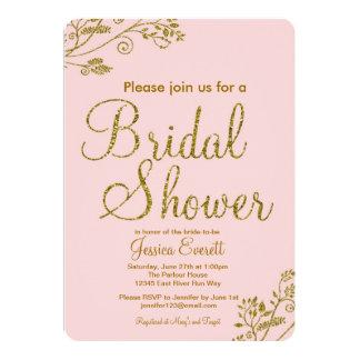 Rougissent l'invitation nuptiale de douche de carton d'invitation  12,7 cm x 17,78 cm