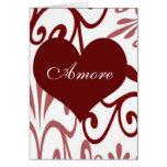 Rouleau Valentine-Italien Carte De Vœux