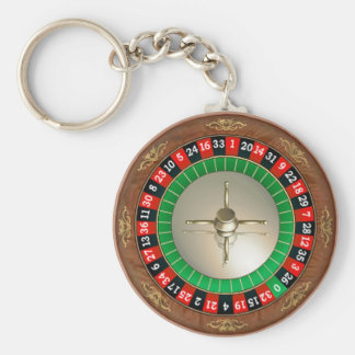 Roulette basic button key chain
