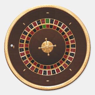 roulette classic round sticker