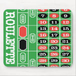 Roulette Table - Casino Gamble To Win Mouse Pads