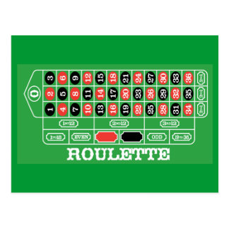 Roulette Table - Casino Gamble To Win Postcard