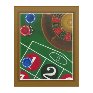 Roulette Table with Chips and Wheel Acrylic Wall Art