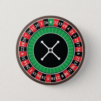 Roulette Wheel Button Badge