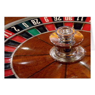 Roulette wheel casino gambling theme greeting card