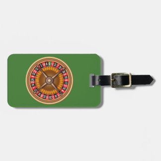 Roulette Wheel custom luggage tag