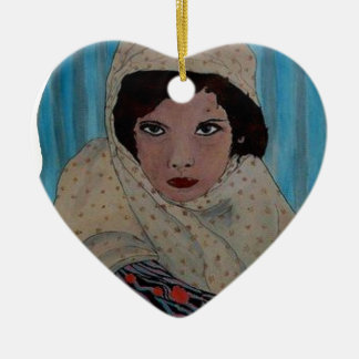 ROUMAINE.png Ceramic Heart Ornament