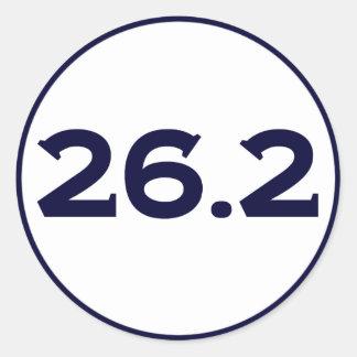 Round 26.2 Marathon Classic Round Sticker