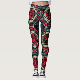 Round Abstract Pattern Leggings