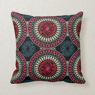 Round Abstract Pattern Throw Pillow