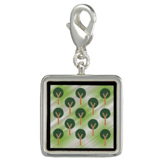 Round Abstract Trees Photo Charms