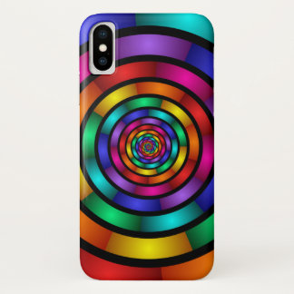 Round and Psychedelic Colorful Modern Fractal Art Case-Mate iPhone Case