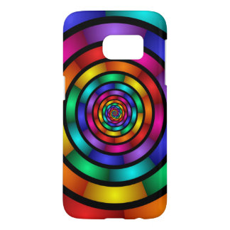 Round and Psychedelic Colorful Modern Fractal Art Samsung Galaxy S7 Case