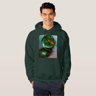 Round and Round Men's Basic Hooded Sweatshirt