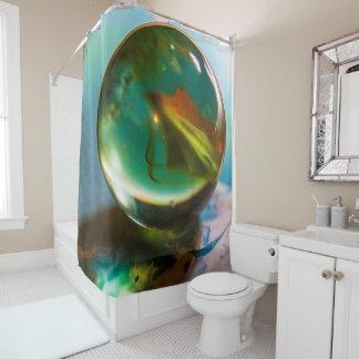 Round and Round Shower Curtain