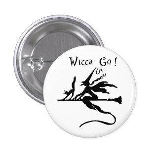 Round Badge Wicca Go! 1 Inch Round Button