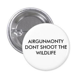 Round badge with airgun message 1 inch round button