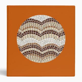 Round Beige Mosaic 1.5'' Binder