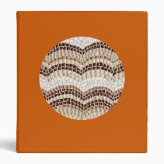 Round Beige Mosaic 1'' Binder