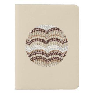 Round Beige Mosaic Extra Large Notebook