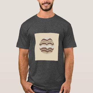 Round Beige Mosaic Men's Basic Dark T-Shirt