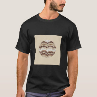 Round Beige Mosaic Men's Basic Dark T-Shirt