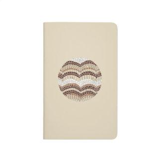 Round Beige Mosaic Pocket Journal