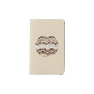 Round Beige Mosaic Pocket Notebook