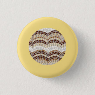 Round Beige Mosaic Small Round Button